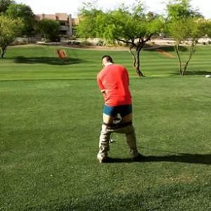 Pants down golf